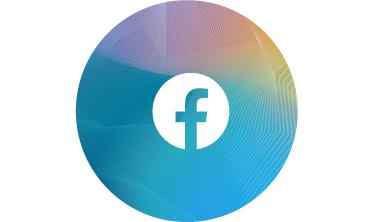 Facebook-Symbol und Link zu Facebook